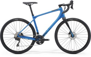 Merida Silex 400 2021 in Blue with Black forks