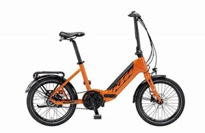 KTM Macina Fold, 2021 model in orange and black
